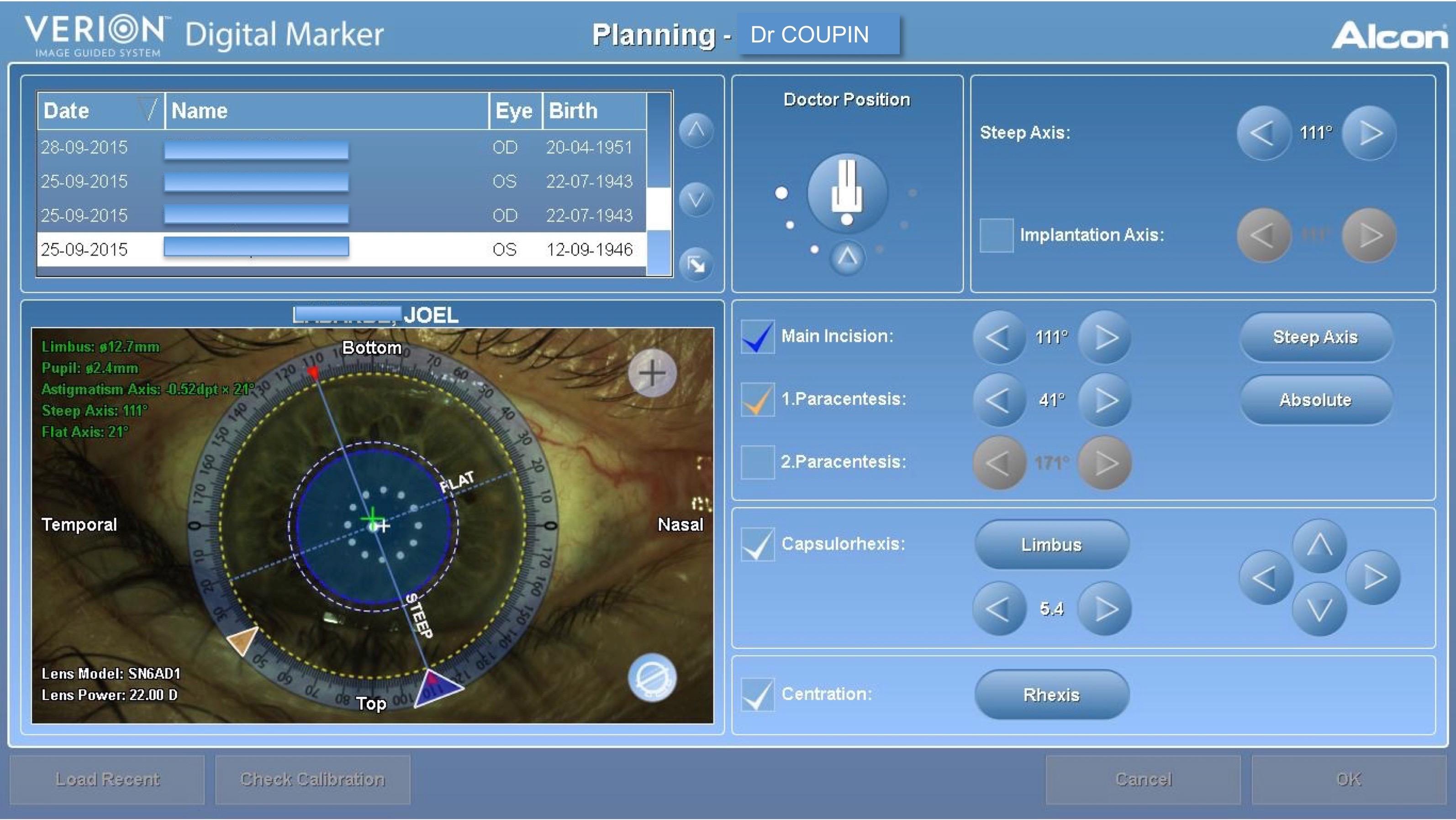 Système Verion couplé au microscope opératoire